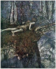 Arthur Rackham, from Siegfried & The twilight of the gods, by Richard Wagner, London, 1911.