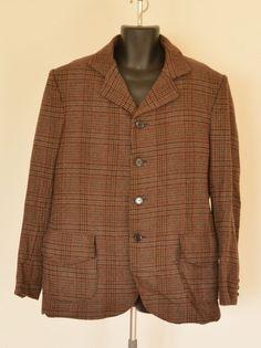 Men's  Sack Suit - 1900s Style - Brown Subdued  Plaid - 2XL -