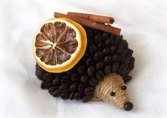 DIY kávový ježek