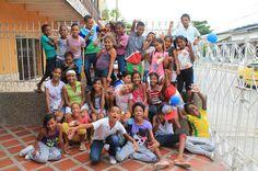 Niños beneficiarios de El Refugio Corporación.