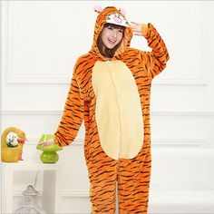 ==> [Free Shipping] Buy Best 2017 New Fashion Women's Tigger Cosplay Animal Adult Costume Full Sleeve Polyester Sleep Lounge Onesies Jumpsuit Sexy Online with LOWEST Price | 32806763479