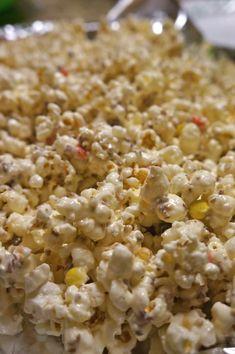 white chocoalte popcorn