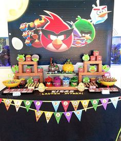 Celebrate with Cake!: Angry Birds Space Dessert Table