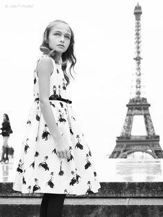 "Léa P for Collection Monnalisa Chic A/W2014 ""Paris mon amour"" B&W by Maurizio Bavutti"