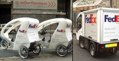 Fed Ex uses electric vehicles in Paris