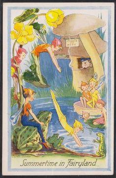 Steele ~ Summertime in Fairyland Fairy Dust, Fairy Land, Brownie Fairy, Fairy Paintings, Fairy Statues, Vintage Fairies, Beautiful Fairies, Flower Fairies, Magical Creatures