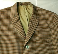 1960s Check Sack Jacket. Summer Weight Sport Coat. by EndlessAlley