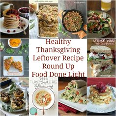 Got to pin this! Healthy Thanksgiving Leftover Recipes - low calorie, lowfat recipes