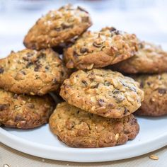 Haferflocken- und Schokoladenkekse - Free The Pickle, Cookie And Cream Cupcakes, Cake Mix Cookie Recipes, Cake Mix Cookies, Cookies Et Biscuits, Healthy Cookies, Fall Desserts, Chocolate Chip Cookies, Coco, Biscotti