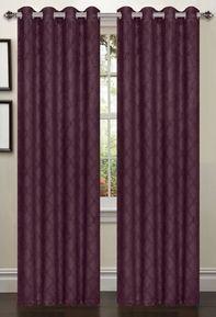 Lattice Blackout Curtain (2 Piece Set) Plum