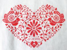 This is an Instant Download PDF Cross Stitch Pattern NO physical item will be shipped to you. Personalize this folk heart with your own special date or perhaps with some initials or one name. This pattern includes a full alphabet and numbers chart. Inspired by Scandinavian embroidery,