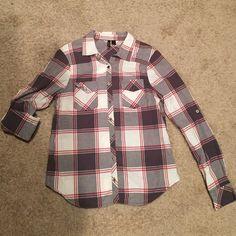 Full Tilt plaid button down Just like new. 100% cotton. Full Tilt Tops Button Down Shirts