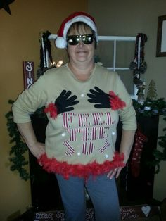 These are Halloween ideas but the costume in the picture would be a cute idea for a ugly sweater Christmas party! Description from pinterest.com. I searched for this on bing.com/images