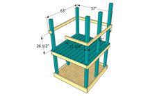 constructia unui mic loc de joaca pentru copii How to build an outdoor wooden playground 5 Backyard Playground, Backyard For Kids, Simple Sandbox, How To Build Steps, Wooden Playset, Wooden Posts, Floor Framing, Play Houses, Garden Projects