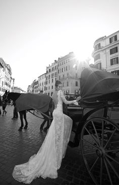 Inbal Dror br-12-06 Backless V Neck Long Sleeve Feminine Lace Chapel Train Wedding Dress https://www.facebook.com/weddingaboutall