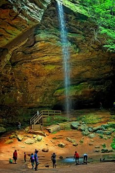 Ash Cave in Hocking Hills, Ohio.