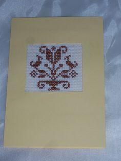 """Grüße - Passepartoutkarte  """"Lebensbaum""""  gesticktes Motiv - ein Designerstück von Pfefferkuchenmadel bei DaWanda"""