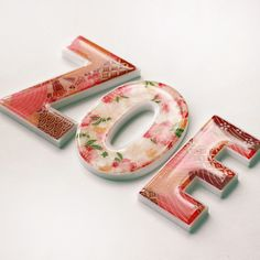 Personalised girls name letters (price per letter) - hardtofind.