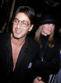 Al Pacino and Diane Keaton in September 1989 at Tavern on the Green in New York City.