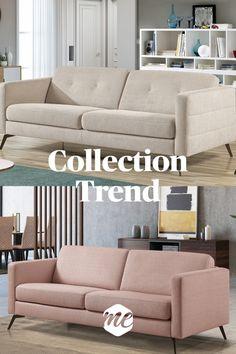 Avec ses formes simples, la collection Trend reste un grand classique indémodable. Il conserve toutefois un aspect chic grâce à ses matériaux de qualité et une découpe élégante. Bleu Turquoise, Style Vintage, Couch, Collection, Design, Furniture, Home Decor, Big Couch, Vintage Sofa