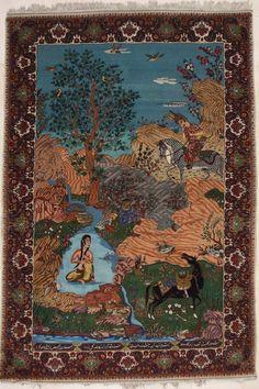 Antiek Tabriz tapijt   KELIM.NL
