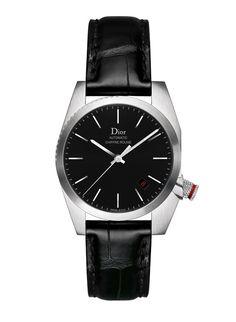 Dior Horlogerie montre Chiffre Rouge noir http://www.vogue.fr/vogue-hommes/montres/diaporama/horlogerie-montres-homme-all-black-cadran-noir/20709/image/1105553#!dior-horlogerie-montre-chiffre-rouge-noir