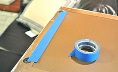 Hang pictures-use blue tape for measuring hole distance, then put tape on wall. PERFECT!!