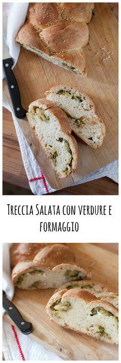 Treccia Salata con verdure e formaggio