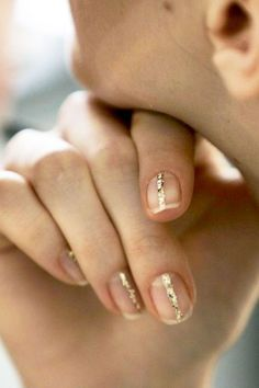 Minimal gold nail.