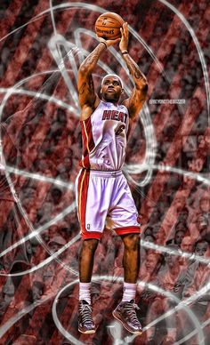 LeBron James- I hate this him as much as the next guy but no denying his incredible talent Basketball Posters, Basketball Art, Basketball Shirts, James D'arcy, King James, Miami Heat Basketball, Image King, King Lebron James, Brooklyn Brewery