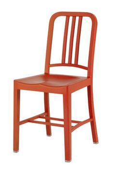 Chaise 111 Navy Chair Orange - Emeco