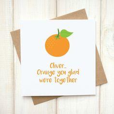 Orange Emoji Card - Personalised Orange You Glad Emoji Card - Funny Card - Emoji Pun Card - Emoji Love Card - Glad We're Together Card - Let's Dream - Etsy Emoji Puns, Emoji Language, Emoji Love, Pun Card, Orange You Glad, We Are Together, Unique Cards, Funny Cards, Kraft Envelopes