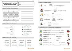 Fiche d'exercices sur le présent des verbes du premier groupe au format PDF