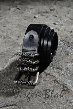 Mohawk Skull Buckle Leather Belt 8UC$21.99 http://www.virginblak.com/accessories/8uc.html