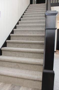Carpet Runners In Johannesburg Grey Stair Carpet, Stairway Carpet, Dark Carpet, Brown Carpet, Modern Carpet, Carpet For Stairs, Modern Staircase, Staircase Design, House Staircase