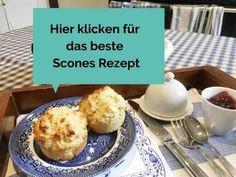 Scones Rezept: Englisches Scones backen ganz einfach Brunch, Vegan Sweets, Muffin, British, Treats, Breakfast, Diy, Brot, Kuchen