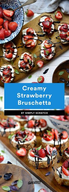 Whether you're hosting a party or making dinner for two, you can't beat bruschetta. Whip out any of these easy bruschetta recipes tonight for the best app ever. Easy Bruschetta Recipe, Bruchetta Recipe, Homemade Bruschetta, Appetizers For Party, Appetizer Recipes, Spa Food, Whipped Goat Cheese, Recipe Tonight, Just Desserts