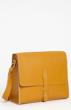 IIIBeCa By Joy Gryson 'Duane' Crossbody Bag   Nordstrom. Structured leather, but the yellow color keeps it fun.