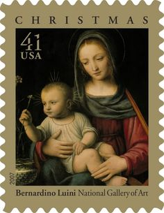 Madonna and child | Postage stamp Bernardo Laini | Old Fashioned ...
