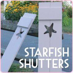 DIY Cape Cod Style Starfish Shutters