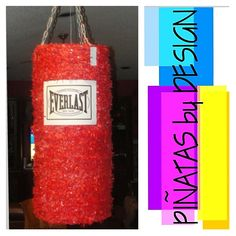 Custom Pinata - Everlast boxing punching bag pinata