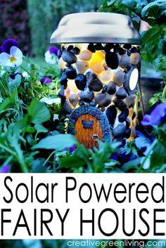 Solar Powered Fairy House Using Plastic Bottles