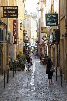 Walking Street in Aix en Provence, France