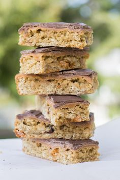 Cookie bars drizzled in chocolate and they're healthy too? Find out how right here.