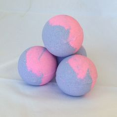 MAMA SAID Bath Bomb This beautiful pink and purple bath bomb is made with natural jojoba oil, grapefruit essential oils, milk bath, and fragrance. CAMEO Prize Inside!