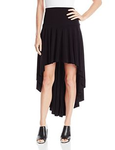 Norma Kamali Women's Hi Low Skirt In Black, Small- #fashion #Apparel find more at lowpricebooks.co - #fashion