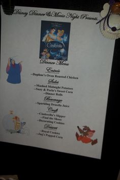 Brave dinner menu brave movie night disney movie night for Souper simple entre amis