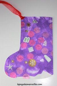 Chaussette de Noel - Bricolage enfant (1)