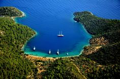 Gocek Bay, Marmaris Town, Mugla Province, Aegean Region, Western Anatolia, Turkiye