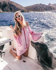 Blue Sky Cabo Charters | Beach Trip Essentials | Pom Pom Coverup